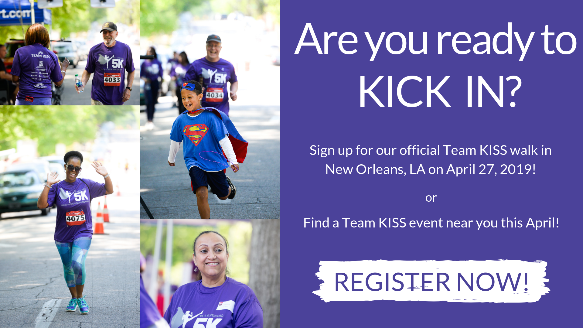 Are you ready to KICK IN? KISS 5K Registration now open!