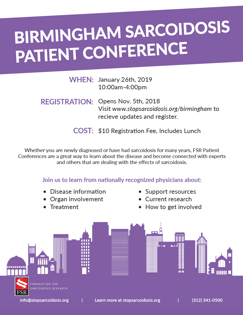 Birmingham Patient Education Conference — Foundation for Sarcoidosis