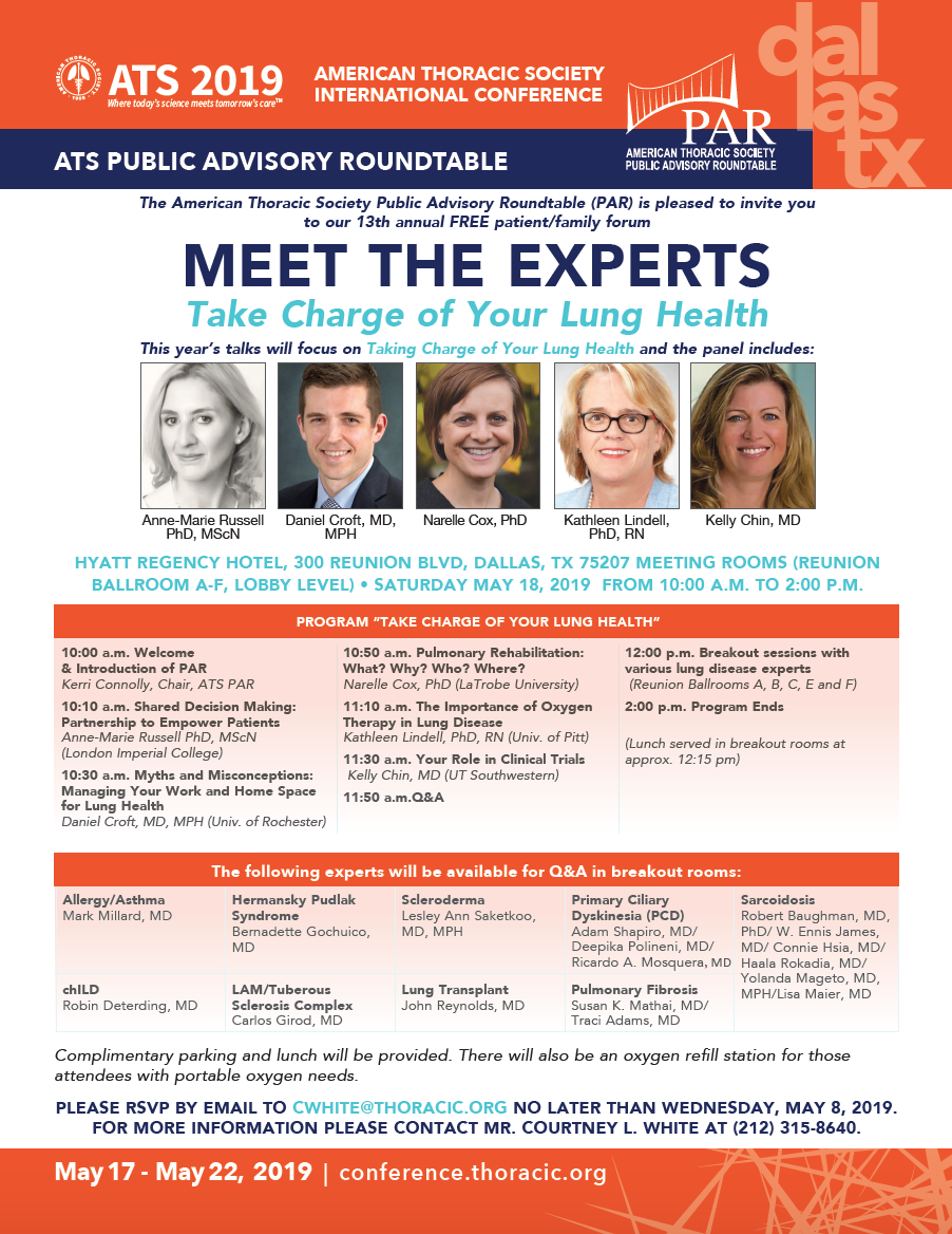 Meet the Experts in Dallas — Foundation for Sarcoidosis Research