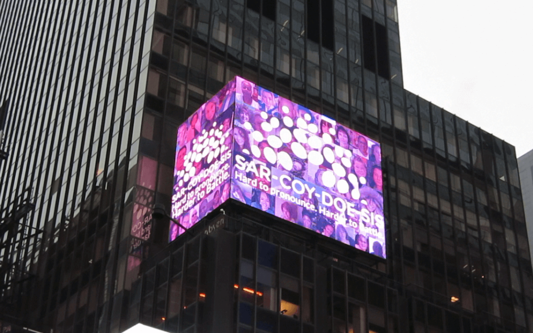 #SarcoidStories Billboard in Times Square